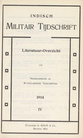 Indisch Militair Tijdschrift 1914-12-01
