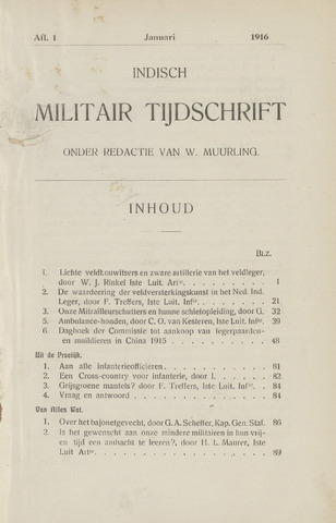 Indisch Militair Tijdschrift 1916
