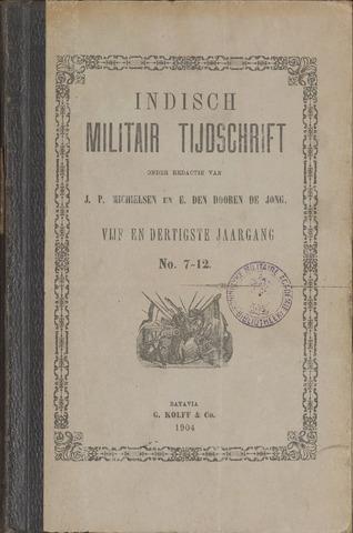 Indisch Militair Tijdschrift 1904-07-01