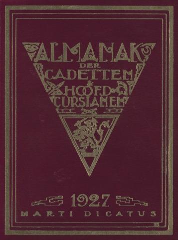 Almanak der Koninklijke Militaire Akademie 1927