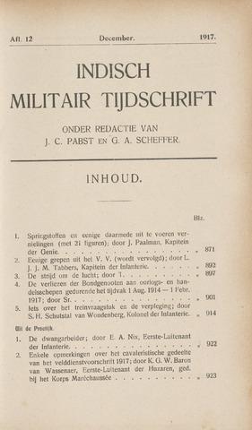 Indisch Militair Tijdschrift 1917-12-01
