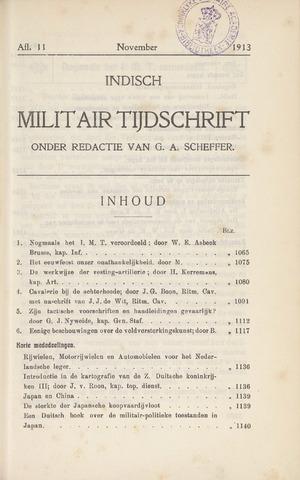 Indisch Militair Tijdschrift 1913-11-01