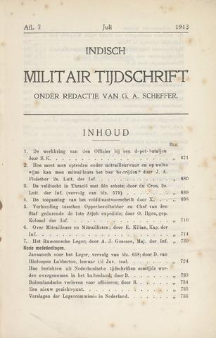 Indisch Militair Tijdschrift 1913-07-01