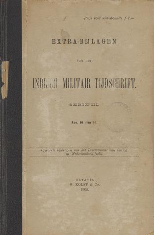 Indische Militair Tijdschrift - Extra Bijlagen 1905