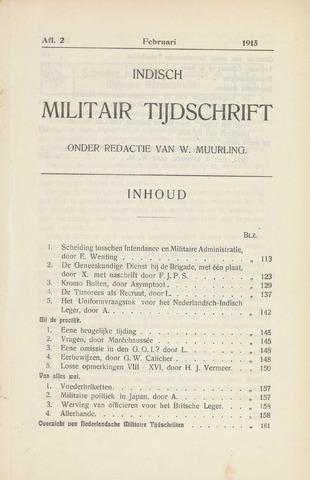Indisch Militair Tijdschrift 1915-02-01