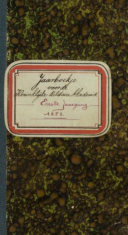 Almanak der Koninklijke Militaire Akademie 1851-01-01