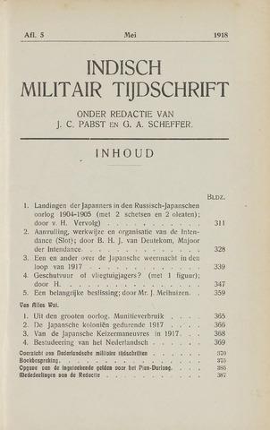 Indisch Militair Tijdschrift 1918-05-01