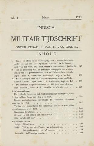 Indisch Militair Tijdschrift 1913-03-01