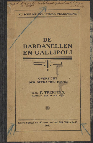 Indische Militair Tijdschrift - Extra Bijlagen 1922