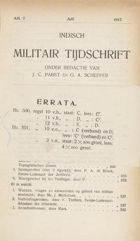 Indisch Militair Tijdschrift 1917-07-01