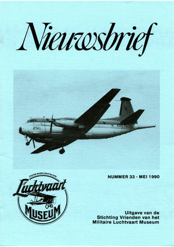 Nieuwsbrief Militaire Luchtvaart Museum 1990-04-01