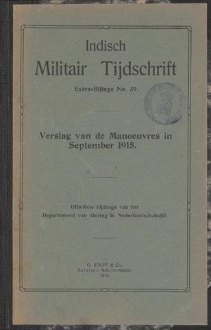 Indische Militair Tijdschrift - Extra Bijlagen 1916