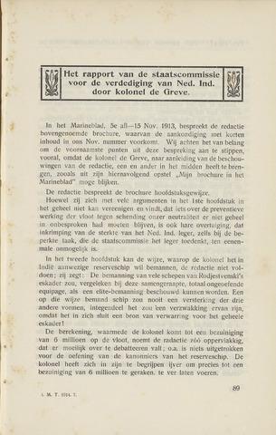 Indisch Militair Tijdschrift 1914-02-01