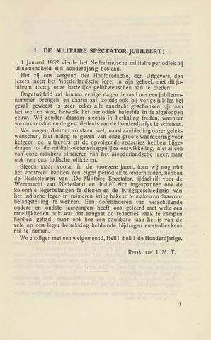 Indisch Militair Tijdschrift 1932