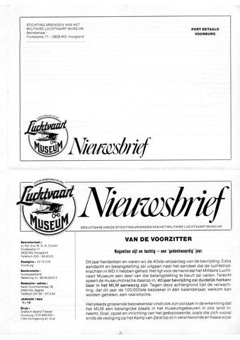 Nieuwsbrief Militaire Luchtvaart Museum 1985-01-01