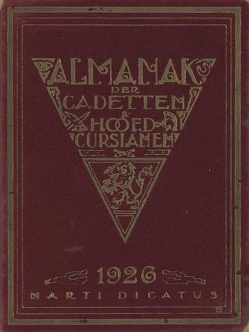Almanak der Koninklijke Militaire Akademie 1926-01-01