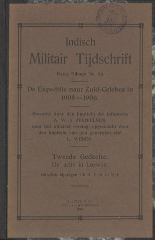 Indische Militair Tijdschrift - Extra Bijlagen 1915