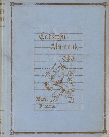 Almanak der Koninklijke Militaire Akademie 1920-01-01