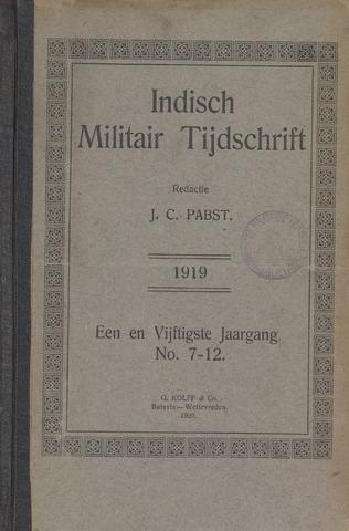Indisch Militair Tijdschrift 1919-07-01