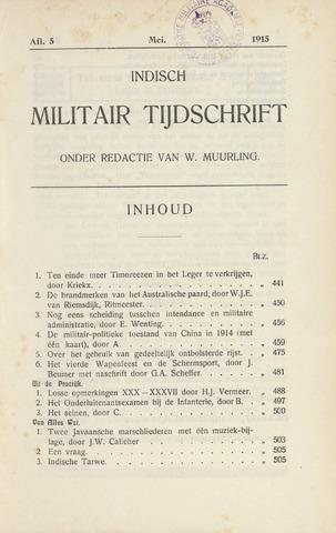 Indisch Militair Tijdschrift 1915-05-01
