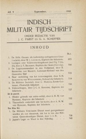 Indisch Militair Tijdschrift 1918-09-01