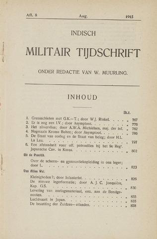 Indisch Militair Tijdschrift 1915-08-01