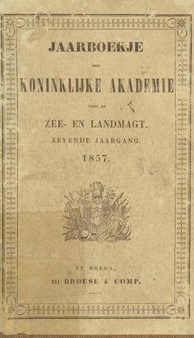 Almanak der Koninklijke Militaire Akademie 1857-01-01