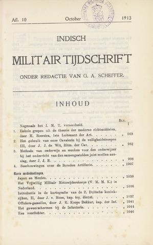 Indisch Militair Tijdschrift 1913-10-01