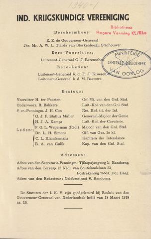 Indisch Militair Tijdschrift 1940
