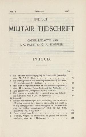 Indisch Militair Tijdschrift 1917-02-01