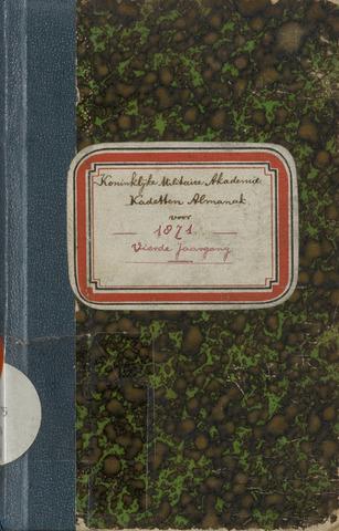 Almanak der Koninklijke Militaire Akademie 1871-01-01
