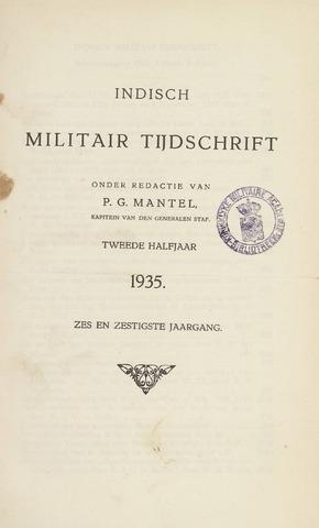 Indisch Militair Tijdschrift 1935-07-01