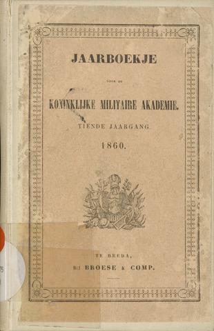 Almanak der Koninklijke Militaire Akademie 1860