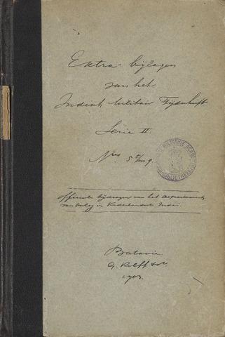 Indische Militair Tijdschrift - Extra Bijlagen 1903