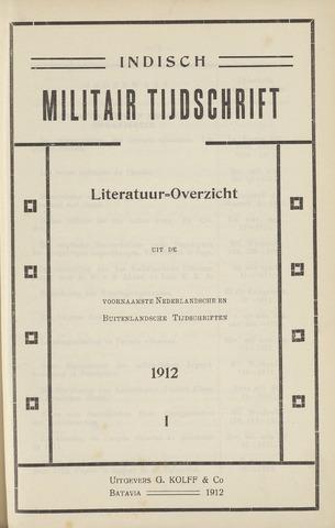 Indisch Militair Tijdschrift 1912