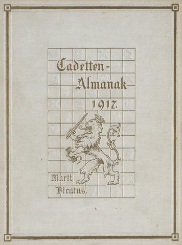 Almanak der Koninklijke Militaire Akademie 1917