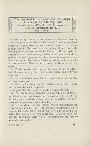 Indisch Militair Tijdschrift 1912-10-01