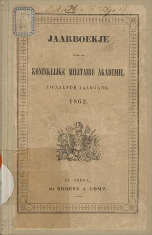 Almanak der Koninklijke Militaire Akademie 1862-01-01