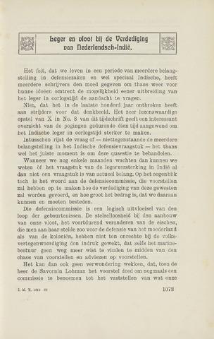 Indisch Militair Tijdschrift 1912-11-01