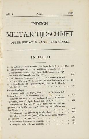 Indisch Militair Tijdschrift 1913-04-01