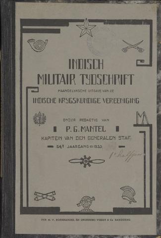 Indisch Militair Tijdschrift 1933