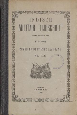 Indisch Militair Tijdschrift 1906