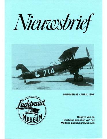 Nieuwsbrief Militaire Luchtvaart Museum 1994-04-01