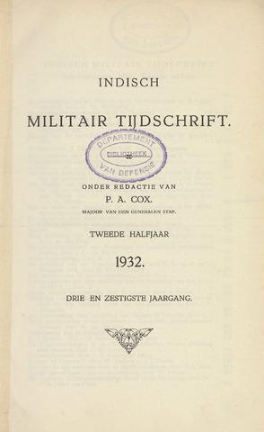 Indisch Militair Tijdschrift 1932-07-01