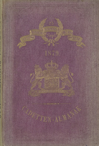 Almanak der Koninklijke Militaire Akademie 1879