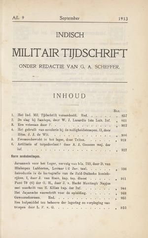 Indisch Militair Tijdschrift 1913-09-01