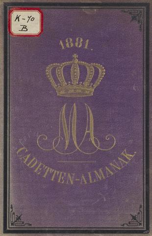 Almanak der Koninklijke Militaire Akademie 1881-01-01