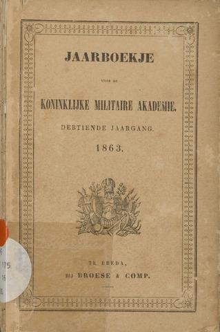 Almanak der Koninklijke Militaire Akademie 1863