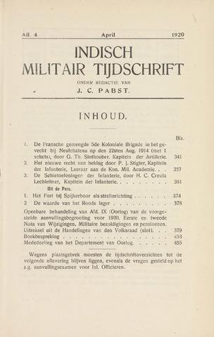 Indisch Militair Tijdschrift 1920-04-01