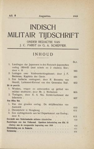 Indisch Militair Tijdschrift 1918-08-01
